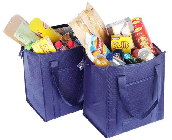 Navy blue-2PC Bags